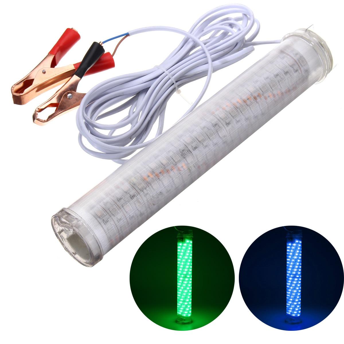 12 V 30 W LED verde/azul submarino sumergible impermeable pesca luz 2400LM barco pescado calamar lámpara