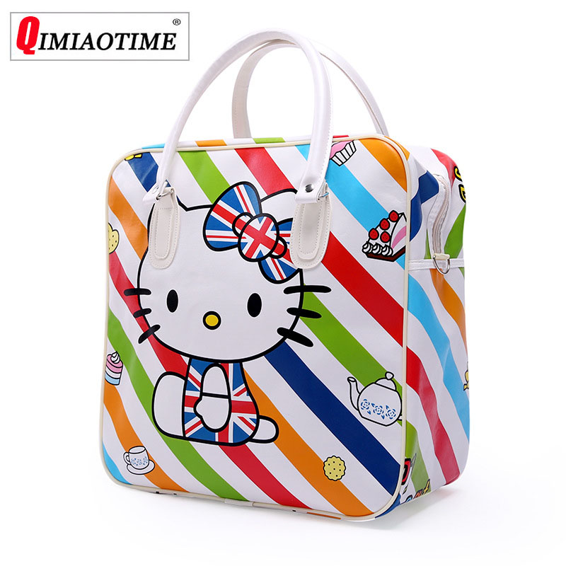 Luggage-Bag Handbags Overnight-Bag Duffle Large Women Cartoon Versatile