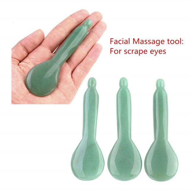 Natural Aventurine Jade Stone Guasha Massage Tool Acupuncture SPA Therapy Gua Sha Massager Scraping Board Antistress Body 3