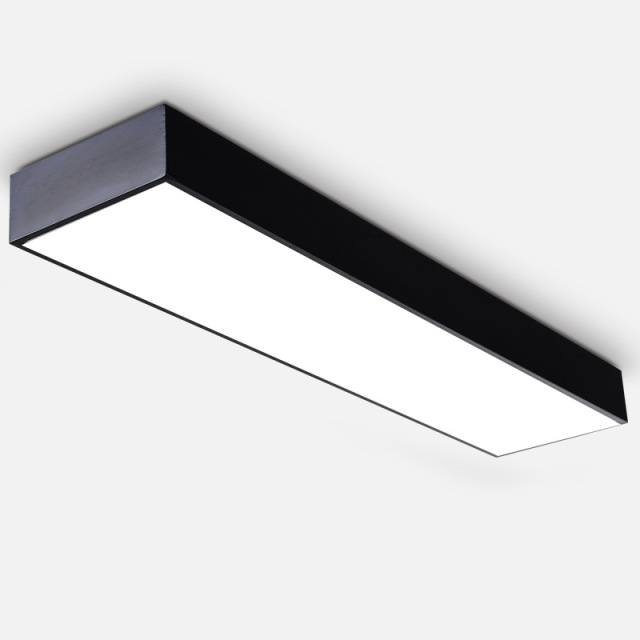 Modern Ceiling Light Suspension Surface Mounted Aluminum Led Hanging Linear Lamp For