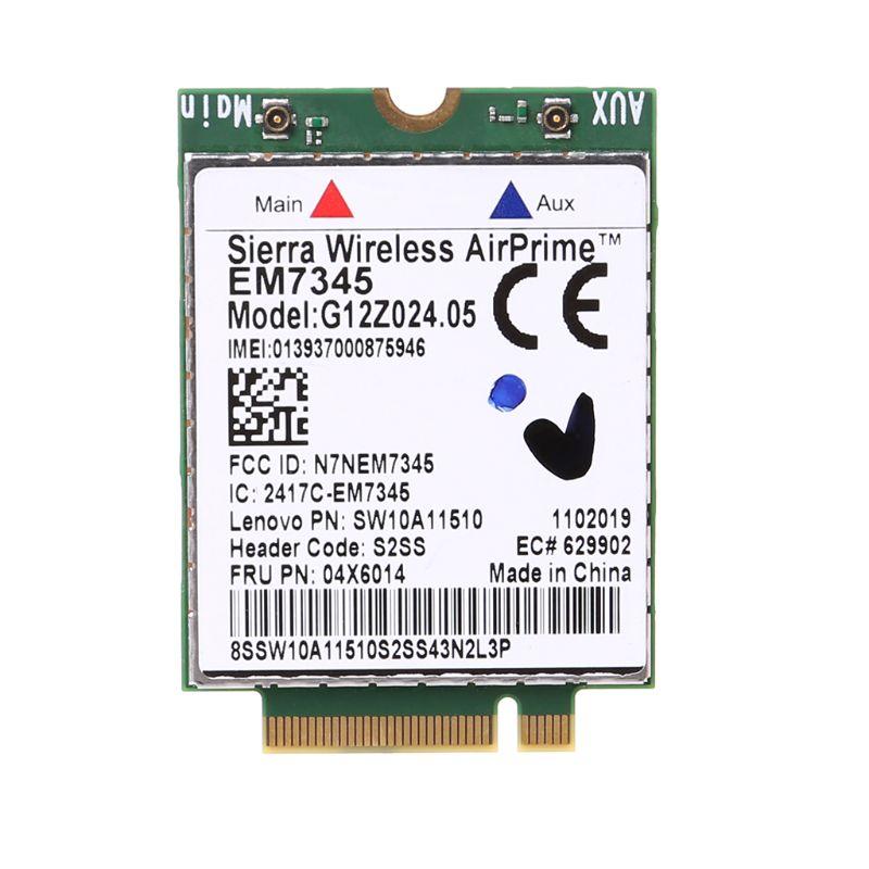 WWAN Wireless Card EM7345 4G LTE For Lenovo Thinkpad 04X6092 04X6015 04X6014 Sierra