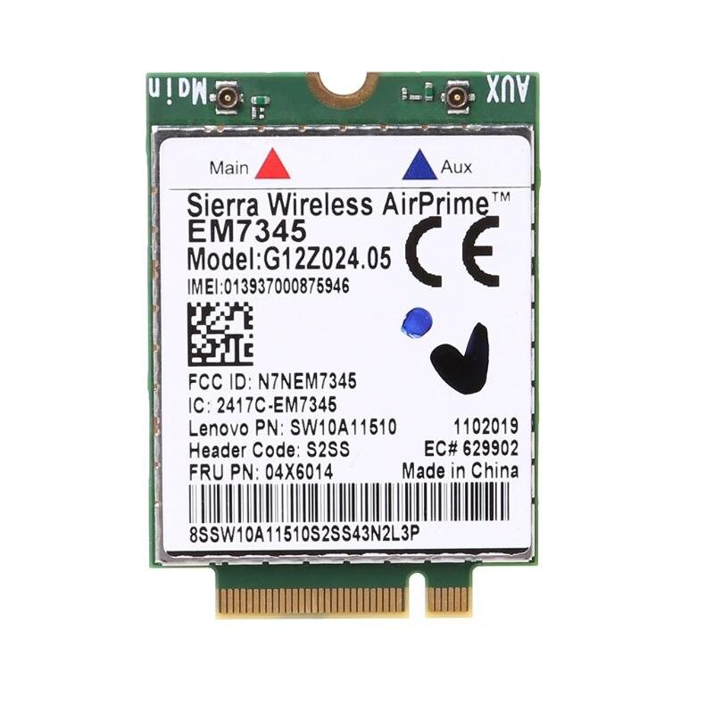 WWAN karta bezprzewodowa EM7345 4G LTE dla Lenovo Thinkpad 04X6092 04X6015 04X6014 Sierra