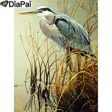 DIAPAI 100% Full Square/Round Drill 5D DIY Diamond Painting Animal egret  Diamond Embroidery Cross Stitch 3D Decor A18948 футболка selected 16060725 egret