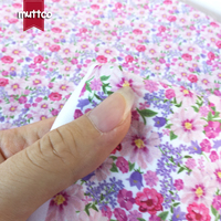 Retailing high quality DIY sewing polyester fabric pink and soft beefy single sided printed flowers patterns peach skin fabric
