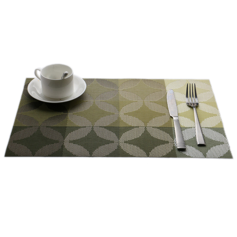 Lot Pvc Insulation Heat Insulation Stainresistant Placemats  New Design