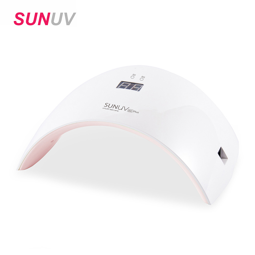 SUNUV SUN9c Plus 36W UV LED Nail lamp 18 LEDs Nail dryer for All Gels with 30s/60s button Perfect Thumb Solution sunuv sun9c plus 36w uv lamp for nail manicure white light timer control professional nail dryer curing all uv led nail gels