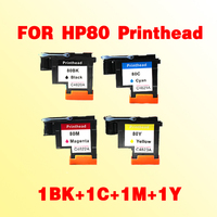 1set 1BK 1C 1M 1Y C4820A C4821A C4822A C4823A Compatible For HP80 Printhead Designjet 1000 1050c