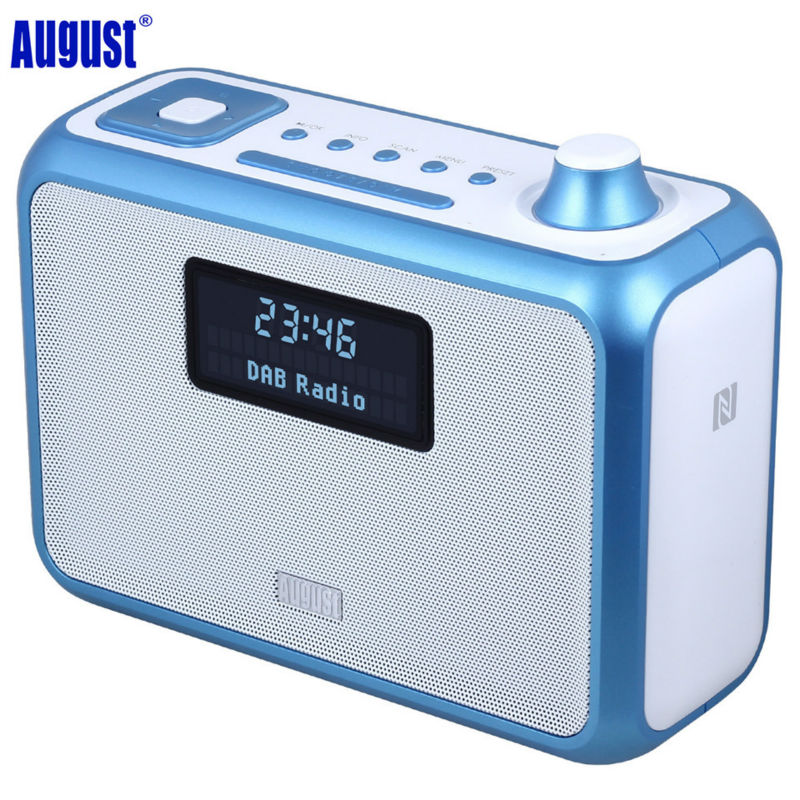 August MB400 DAB+ / DAB Radio with NFC Wireless Bluetooth Speaker, Alarm Clock, FM Stereo Tuner and MP3 Players Portable Speaker шариковая ручка waterman hemisphere deluxe privee чернила синие 1971678