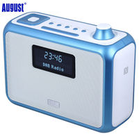 August MB400 DAB+ / DAB Radio with NFC Wireless Bluetooth Speaker, Alarm Clock, FM Stereo Tuner and MP3 Players Portable Speaker