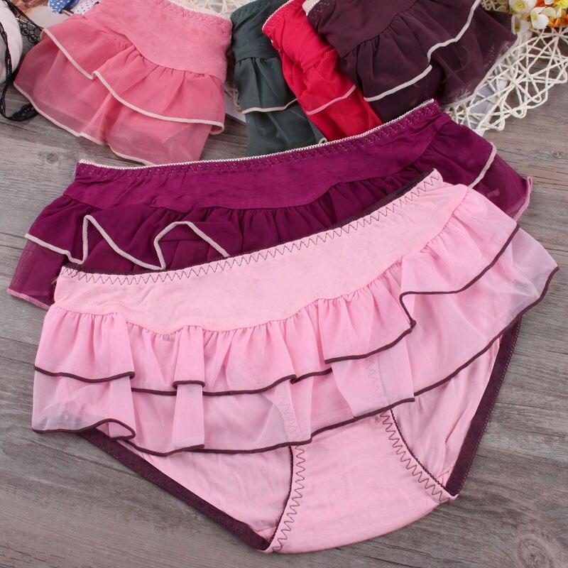 6b155d578e Sweet Princess kawaii knickers Tutu Skirt girls underwear breathable  Japanese comfort waist hip briefs cute panties