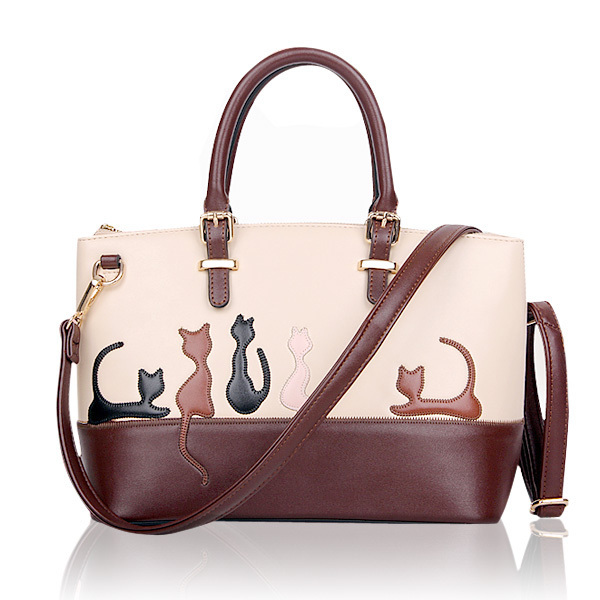 Women Animal Contrast Color Handbags Cat Shoulder Bags Rabbit Crossbody Bags недорого
