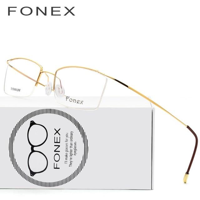Gafas de titanio marco hombres ultraligero masculino anteojos ...
