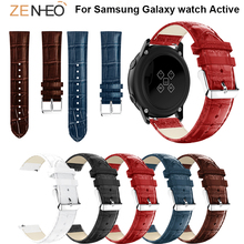 Replace Watchband Crocodile Pattern Band 20mm For Huami Amazift Bip Samsung Galaxy watch Active bands Bracelet Strap