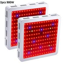 2Pcs Full Spectrum LED Grow Light Plants 900W Powerful Led Grow Lights For Indoor Panel For Flowering Plants