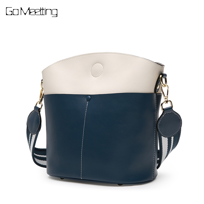 Go Meetting Women Shoulder bags Panelled Designer Brand Genuine Leather Messenger Bags for women 2018 hand bag sac a main femme women top handle bags yellow real genuine leather hand bags hand painted graffiti totes with hardware sac a main messenger bag y