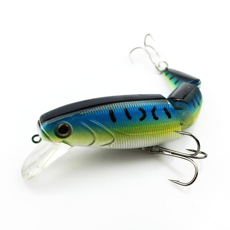 Swimbait Jointed Top Water Minnow Fishing Lures Hook Crankbait Bait Bass 3 Sections 11cm High quality 039 wldslure 1pc 54g minnow sea fishing crankbait bass hard bait tuna lures wobbler trolling lure treble hook