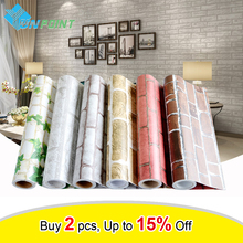 0.45x5M Self Adhesive Brick Wall Paper Modern Background Walls Bedroom Wall Sticker Dormitory Waterproof Stickers Home Decor