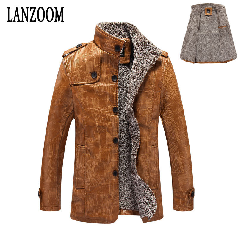 2017 New Mens Autumn Winter Jacket PU cheap Leather coats ...