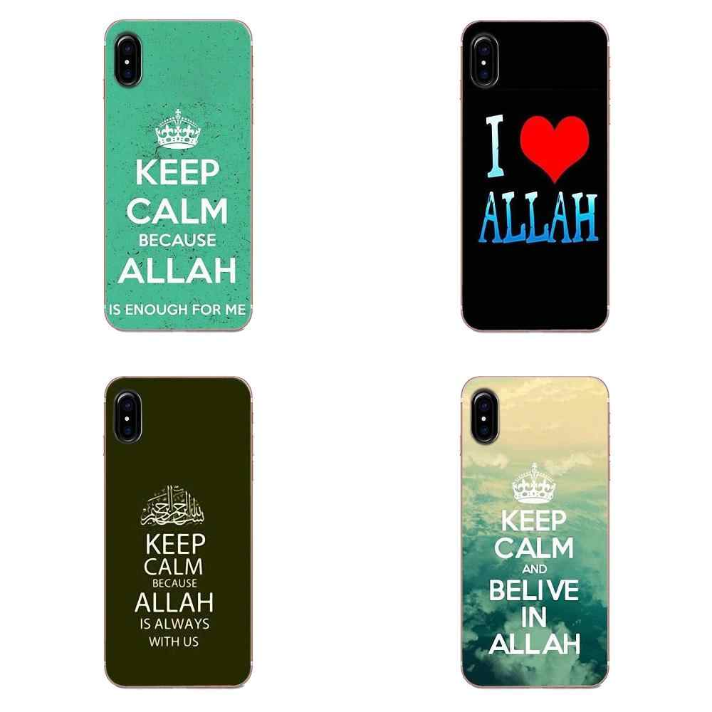 Для Apple IPhone X XS Max XR 4 4s 5 5C 5S SE 6 6 S 7 8 Plus TPU чехол с принтом для телефона Keep Calm Love Allah