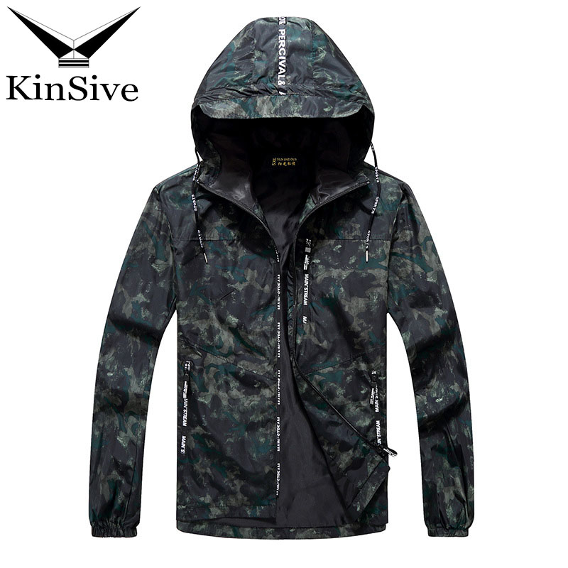 2018 Spring Autumn Mens Casual Camouflage Hooded Jacket Bomber Men Waterproof Clothes Mens Windbreaker Coat Male Outwear 10XL