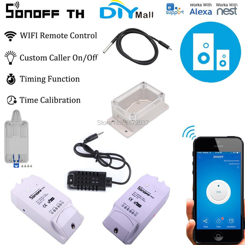 Sonoff TH10 TH16 DR IP66 Waterproof Case Wifi Switch Monitoring Temperature Humidity Sensor Probe Smart Home Automation