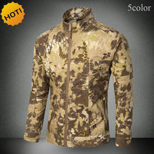 HOT 2017 Outdoor Winter Thcik Soft Shell Wear-resisting Cargo Jungle Camouflage Tactical Design Military Hiking Ski Jackets Men