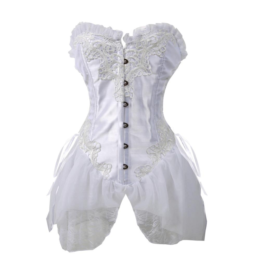 2017 neue Braut Satin Lace Up Zurück Brust Korsett Kleid Corsage ...