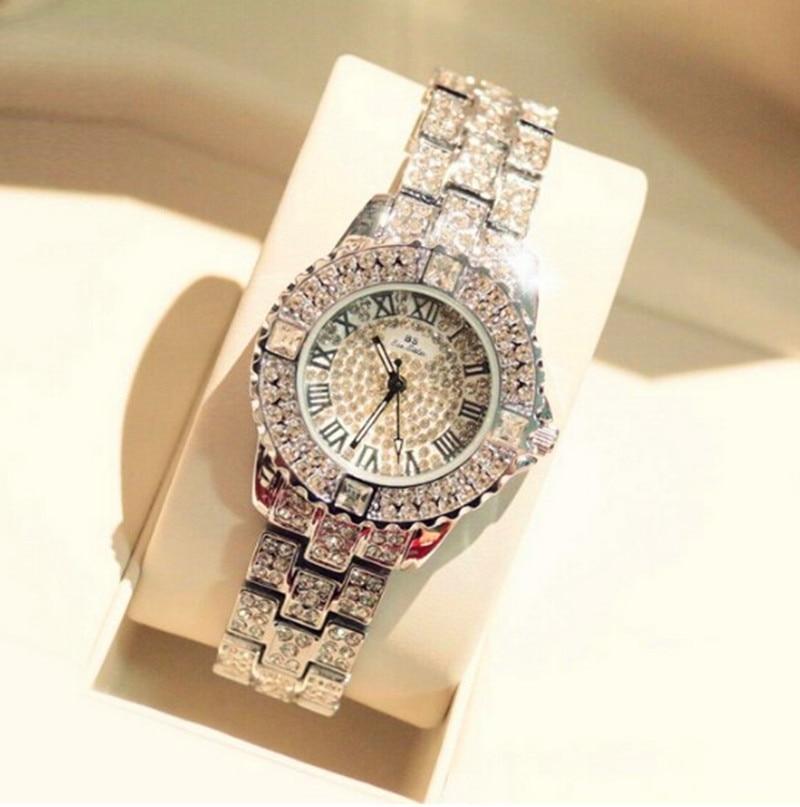 2017 New Women Rhinestone Watches Lady Dress Women watch Diamond Luxury brand Bracelet Wristwatch ladies Crystal Quartz Clocks 1
