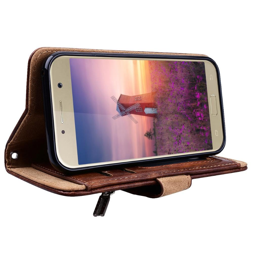 Samsung Galaxy A3 A5 A7 J3 J5 J7 2017 üçün Lüks Pu Dəri Çanta - Cib telefonu aksesuarları və hissələri - Fotoqrafiya 5