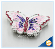 Free Shipping New Design Butterfly Trinket Box Butterfly Jewelry Box Enamel Handmade Craft