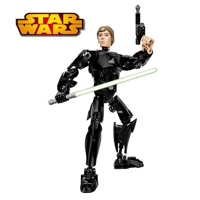 NEW KSZ Star Wars Luke Skywalker with Lightsaber w/gun Figure diy figures toys building blocks compatible