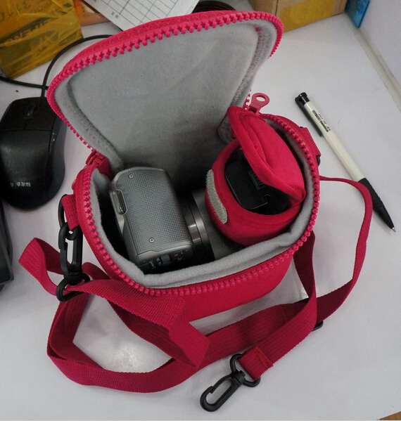 Image 5 - Camera Cover Case Bag for Sony LCS BBF NEX3C NEX5C NEX5N NEX F3 NEX7 Red Grey Black & White color free shipping-in Camera/Video Bags from Consumer Electronics
