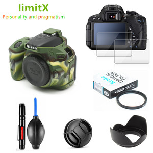 Image 2 - Full Protect Kit Screen Protector Camera case UV Filter Lens hood Cap Cleaning pen Air Blower for Nikon D5600 AF P 18 55mm VR