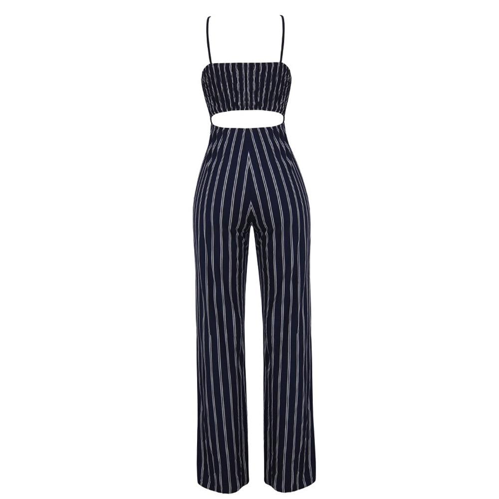 Jumpsuit Summer Women 2018 New Brand Sleeveless Bodysuits Sexy V-Neck Bandage Clubwear Elegant Jumpsuit combinai F#J07 (9)