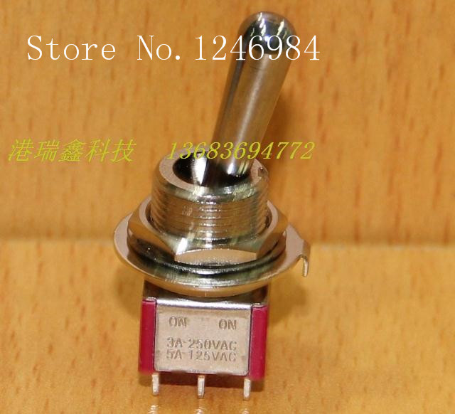 [SA]T8011-Z1 six foot two tranches M12 Dual toggle switch shaking his head to move the bulk of the switch T80-T Taiwan SH--20pcs
