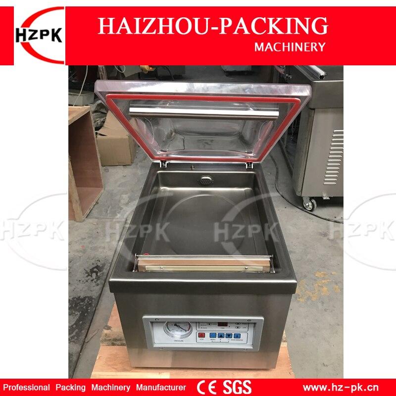 HZPK Bureau Unique-chambre Machine D'emballage Sous Vide Avec Corps En Acier Inoxydable Couvrir les Équipements D'emballage Sous Vide Scellant DZ-260