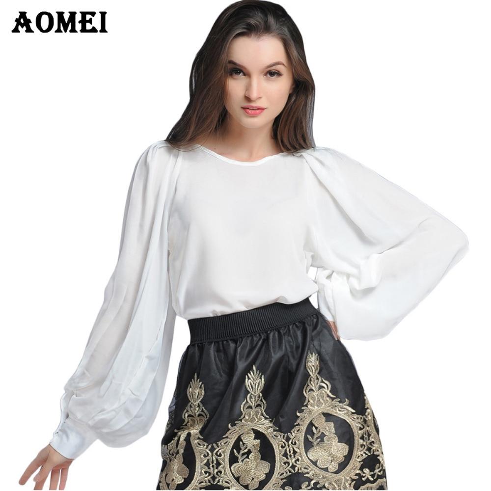 a15e95d18c5 Summer White M L XXL Chiffon Women Blouse Fall Fashion Blusas Feminina  Female Office Casual Workwear Tops Renda Shirts Clothing