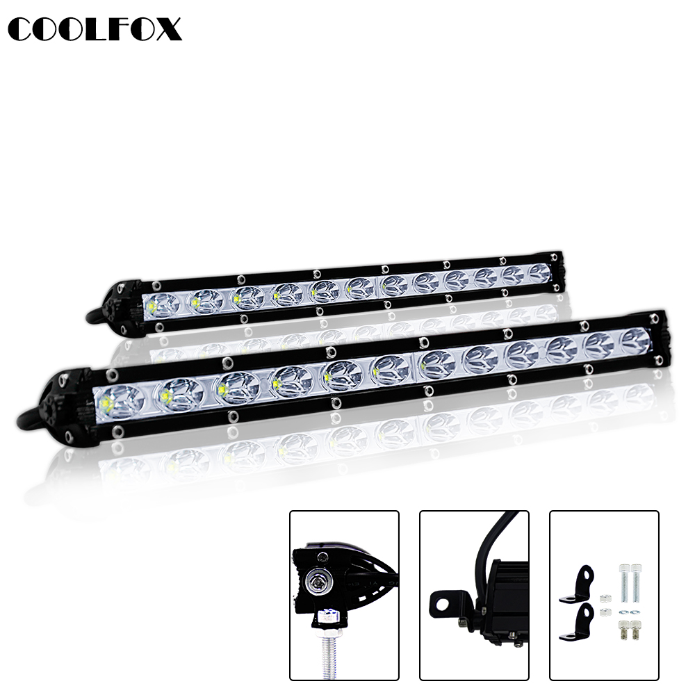 "7"" 13"" 18W 36W 6000K off road Single Row LED Light Bar Waterproof Lamp for SUV Offroad Led Bar Driving Lights 4WD Truck 12V 24V"