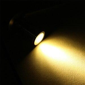 Image 5 - 5 pz/lotto 1W 3W Mini led cabinet luce del punto AC110V 220V Bianco o bianco caldo led armadio da incasso RoHS CE