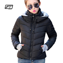 Fitaylor 2017 Women Winter Jacket Basic Down Top Plus Size Female Coat Slim hooded Parkas Outerwear Long Sleeve Casual Jackets