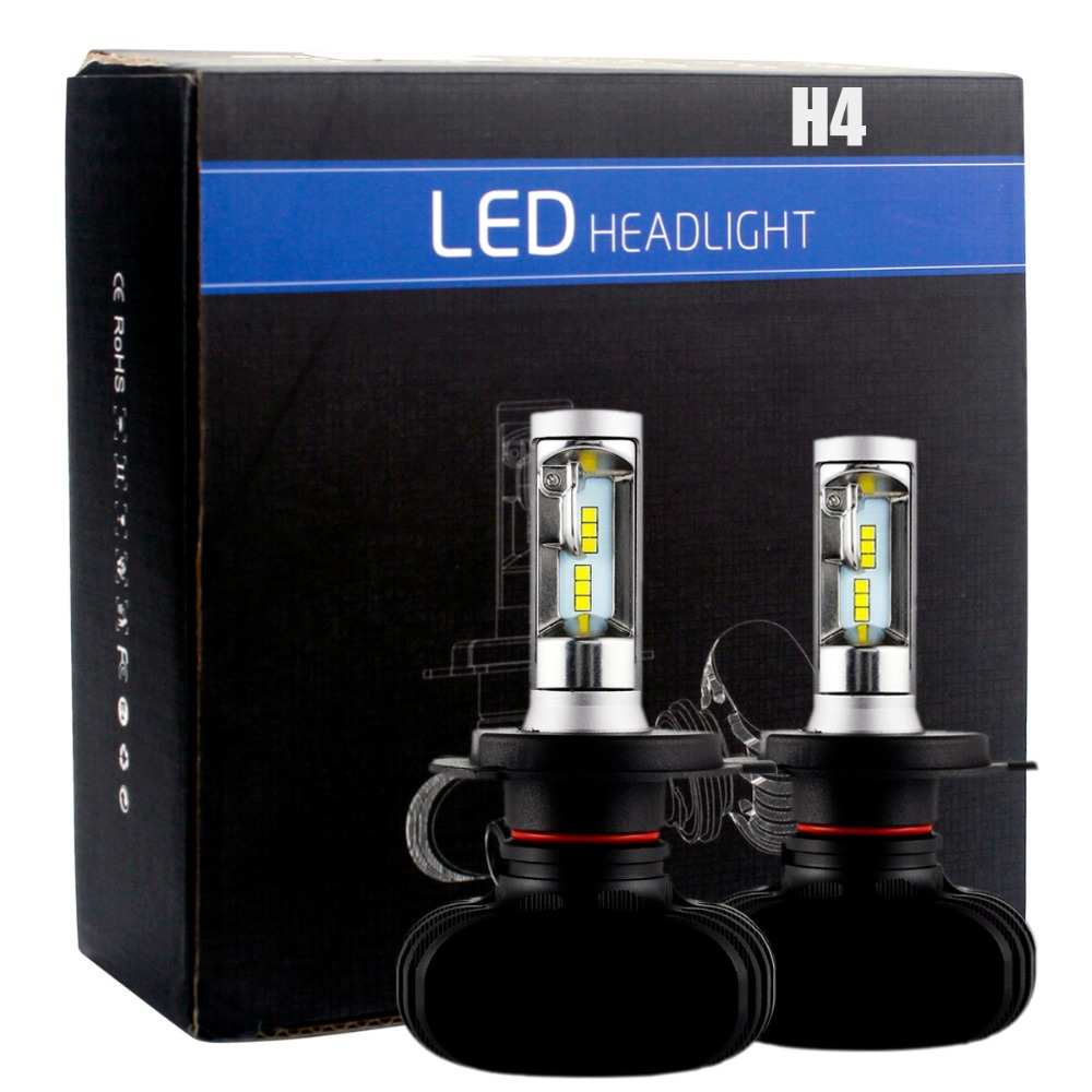 2Pcs Super Bright H4 High Low Beam Led Bulb Fog Light  Auto Car Headlight For Mitsubishi Galant Eclipse Montero  Car Styling  free shipping all in one car led headlight conversion kit 66w 6000lm h13 high low beam bulb super bright car styling led bulb