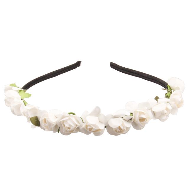 Wholesale Price Flower Hairband for Girls 2017 New Paper Flower Women Wedding Flower Crown Boho 17 Colors Rose Flower Headwear
