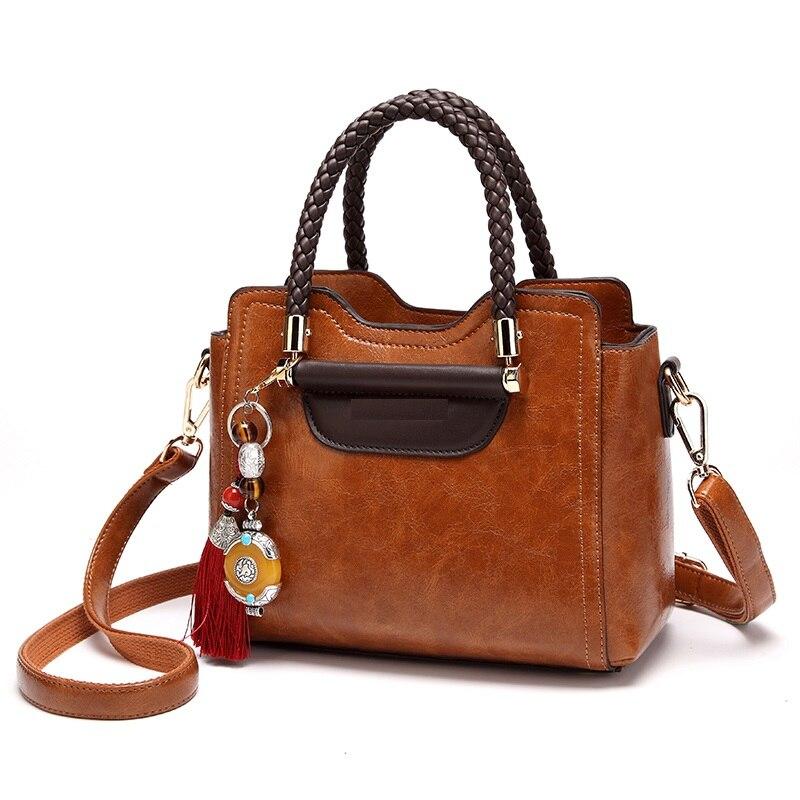 Feminino preto nova moda ladie saco de mão feminina bolsa de couro genuíno bolsa de ombro feminina t54
