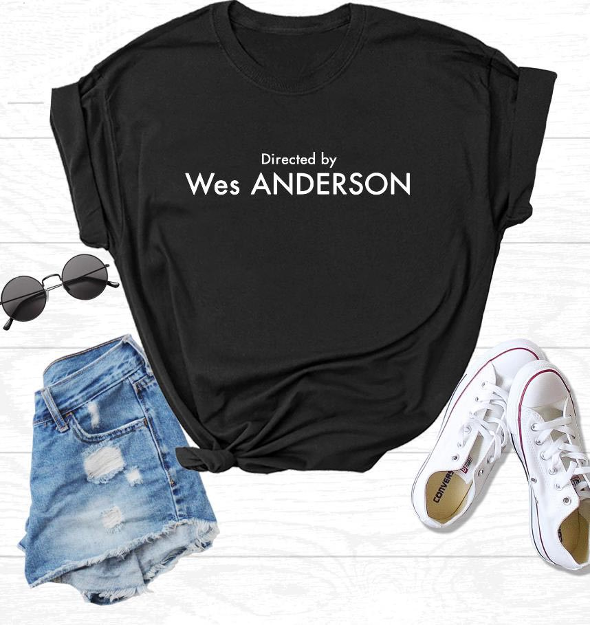 Directed By Wes Anderson Print Women Tshirt Cotton Casual Funny T Shirt For Lady Girl Top Tee Hipster Ins NA-96