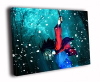 HD Canvas Printings Painting Snow Flakes Night Forest Blood Knife Anime Art D5554
