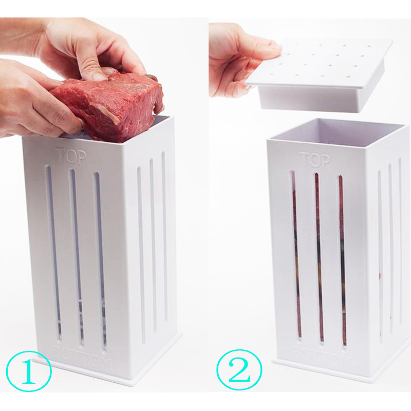16 Holes Meat Skewer BBQ Box Machine Beef Meat Maker Barbecue Tool