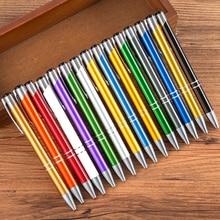 100 sztuk/partia biznes długopis pióra do pisania długopis Caneta nowość prezent Zakka materiały biurowe szkolne może własne logo