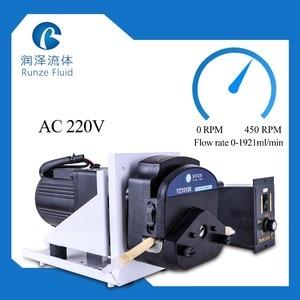 Image 3 - كبير تدفق 0 2000 مللي/دقيقة مضخة تمعجية AC220v سرعة قابل للتعديل مع السيليكون أنابيب الصناعية السائل مضخة