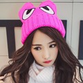 Women winter hat wholesale cute eyes knitted hats ladies casual warm autumn fashion hat color