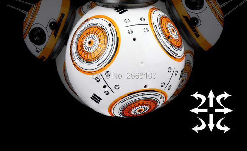 Upgrade Model Ball Star Wars RC BB-8 Droid Robot BB8 Intelligent Robot 2.4G Remote Control Toys For Girl Gifts With Sound Action 10